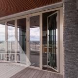 Алюминиевые складные двери тип «Гармошка»